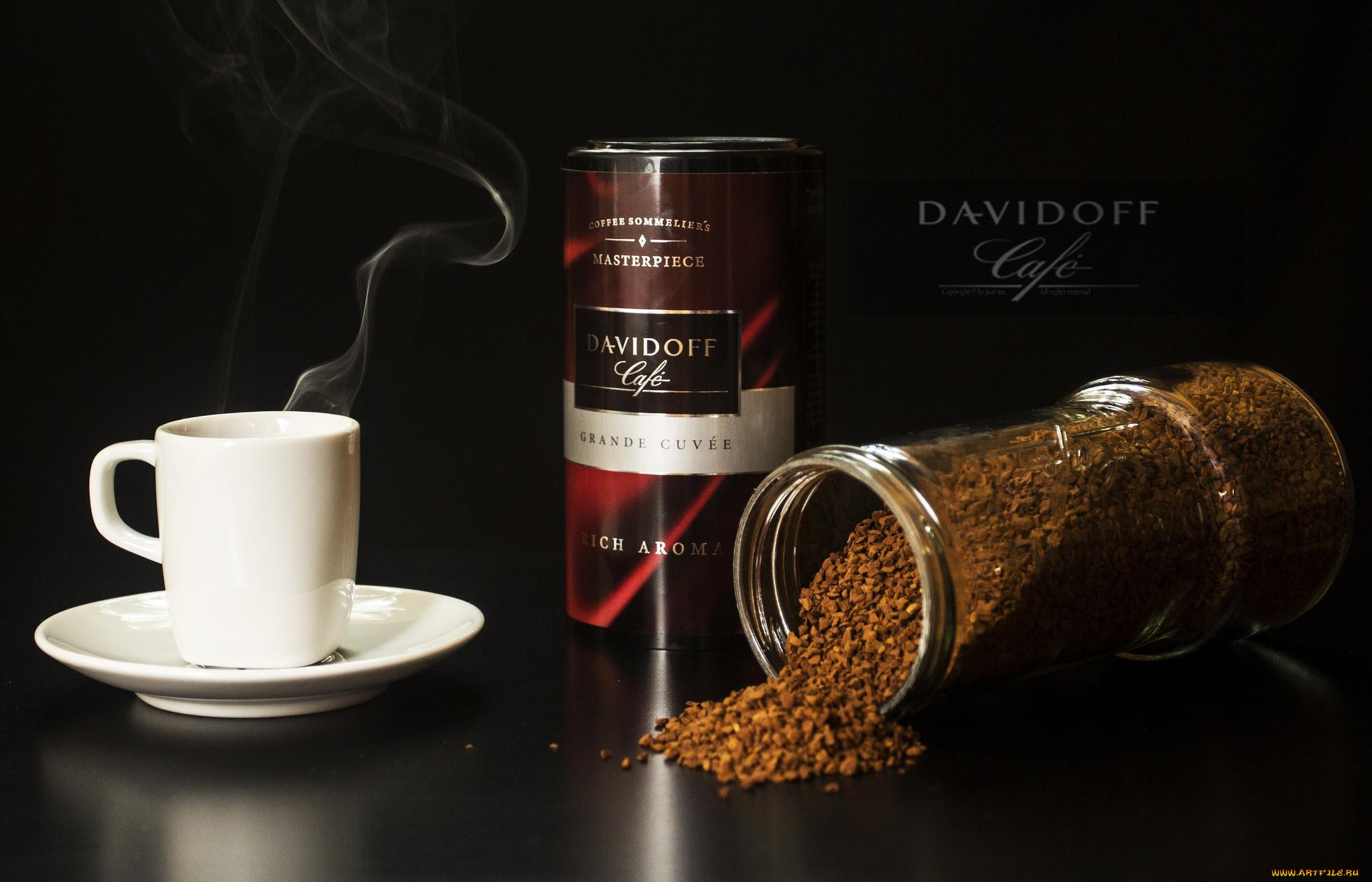 бренды, davidoff, кофе, чашка, банка